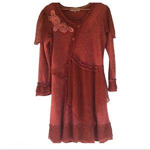 Pretty Angel burnt orange/red sweater dress -M